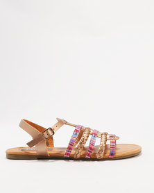 Utopia Embroidered Sandal Gold
