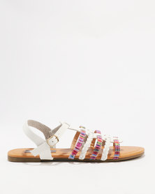 Utopia Embroidered Sandal White