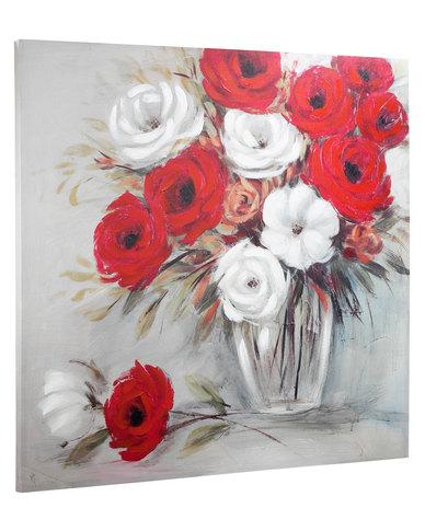 Red white flowers canvas zando red white flowers canvas mightylinksfo