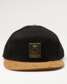 Soviet Ferret Cap Black Twill