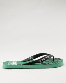 ECKÓ Unltd Print Flip Flops Green