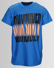 Quiksilver Boys Push On Tee Blue