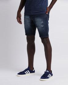 Soviet Men's Pescara Basic Denim Shorts Dark Indigo