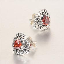 Dhia Jewellery 925 Sterling Silver Heart Endless Earrings