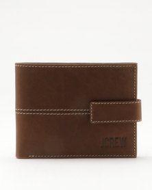 JCrew Leather Tab/Contrast Stitch Chocolate