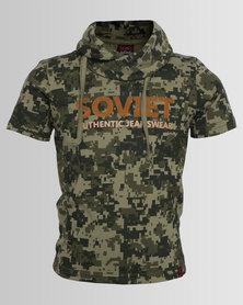 Soviet Lazio Hooded Military Tee Camo