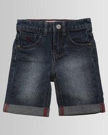 Soviet Monaco Denim Shorts Indigo Blue