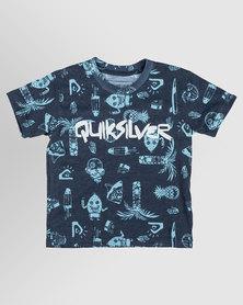 Quiksilver Tods Citrus Man T-Shirt Blue