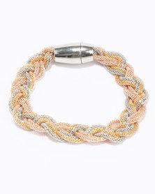 Queenspark Intertwined Metal Bracelet Metallics/Colour