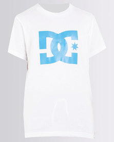 DC Boys Star Standard T-Shirt White