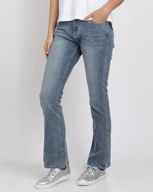 Jeep Stretch Denim Bootleg Jeans