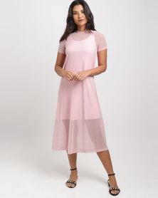 Utopia Mesh Tunic Dress Pink