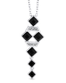 Dhia Jewellery Black Square Necklace Sterling Silver