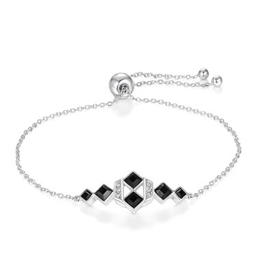 Dhia Jewellery Black Square Bracelet Sterling Silver
