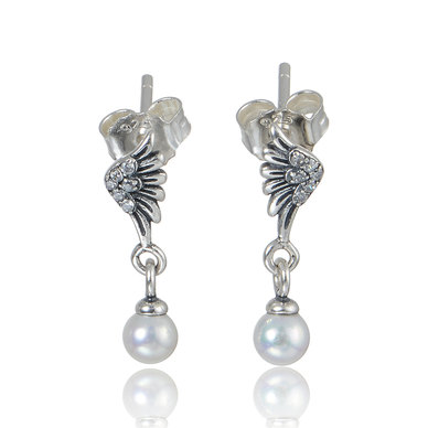 Dhia Jewellery 925 Sterling Silver Hanging Teardrop Earrings