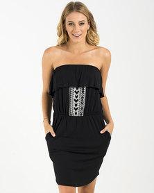 Roxy Full Steam Ahead Dress Black