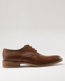 Watson Elite Adam Leather Formal Lace Up Shoe Brown