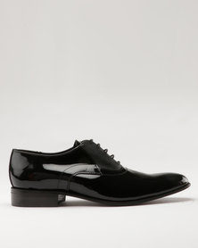 Watson Elite Leo Leather Formal Lace Up Shoe Black