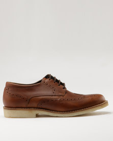 Watson Elite Tommy Casual Lace Up Shoe Brown