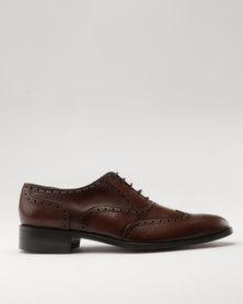 Watson Elite Leo Leather Formal Lace Up Shoe Teak