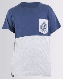 DC Boys Blockade T-Shirt Blue/Grey