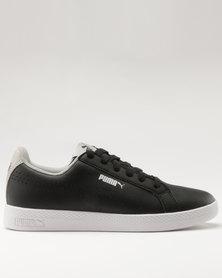 Puma Smash Womens Perforated Sneakers Black