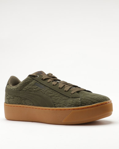 6cd2a2e36982 Puma Vikky Platform VR Olive Night