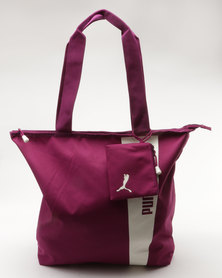 Puma Core Style Shopper Dark Purple-Marshmallow