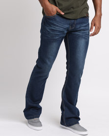 Soviet Mens Dortmund #6 Bootleg Denim Jeans Indigo