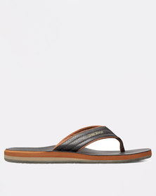 Quiksilver Carver Nubuck Sandals Brown