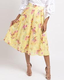 Thirty Rogue Medium Length Skirt Yellow