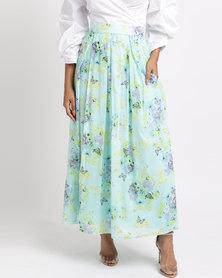 Thirty Rogue Medium Length Skirt Blue/Green