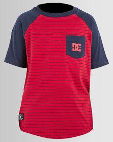 DC Boys Exit T-Shirt Indigo/Red