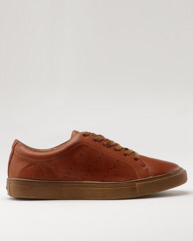 Bata Mens City Casual Sneaker Brown
