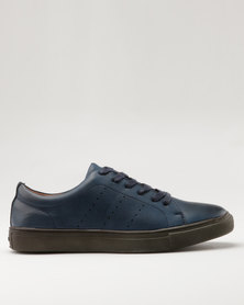 Bata Mens City Casual Sneaker Navy Blue
