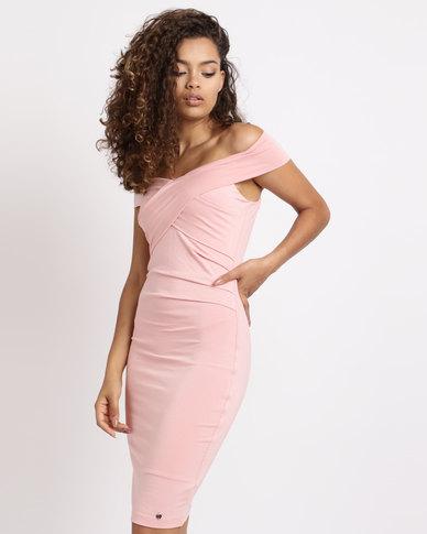 Sissy Boy Bardot Day Dress Pink  9fef98503