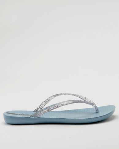 89288cfdc3ec53 Ipanema Female Wave Up Flip-flops Blue