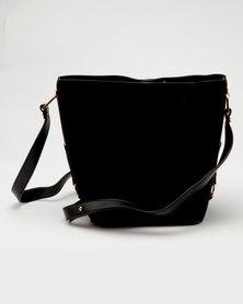 New Look Bethan Suedette Bucket Bag Black
