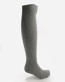 New Look 2 Pack Knee High Grey