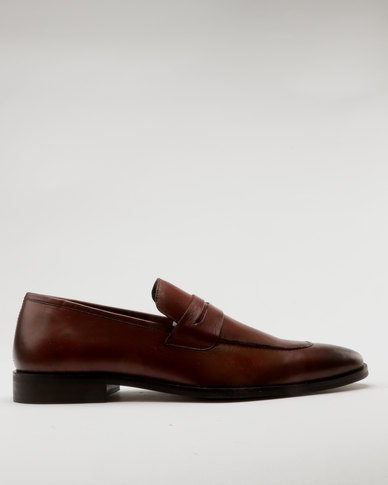Roberto Morino Roberto Morino Sanjo 7 Leather/Suede Formal Slip On Shoes Tan discount best place best wholesale cheap online YkEWj