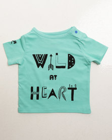 Parental Instinct Stain Resistant Wild At Heart Tee Green