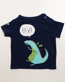 Parental Instinct Stain Resistant Dragon Tee Blue
