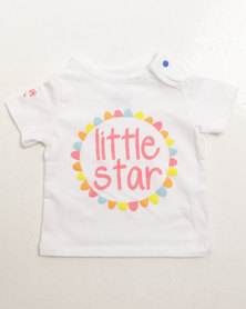Parental Instinct Stain Resistant Little Star Tee White