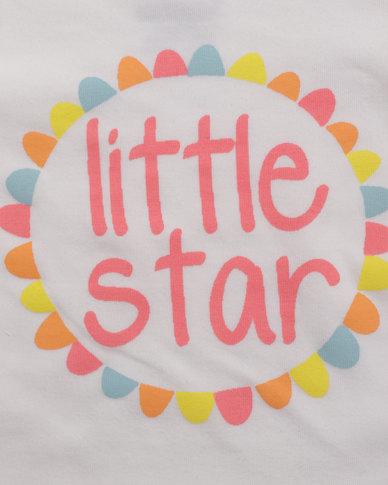 Parental Instinct Stain Resistant Little Star Tee White