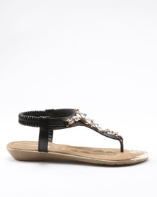 London Hub Fashion Pluto Sandals Black