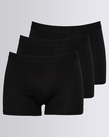 New Look 3 Pack Trunks Black