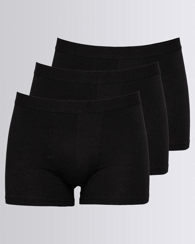 7626418feba New Look 3 Pack Trunks Black | Zando