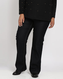 New Look Curves Bootcut Jeans Navy