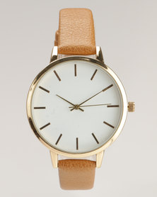 New Look Strap Watch Toffee/Tan