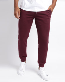 New Look Joggers Burgundy